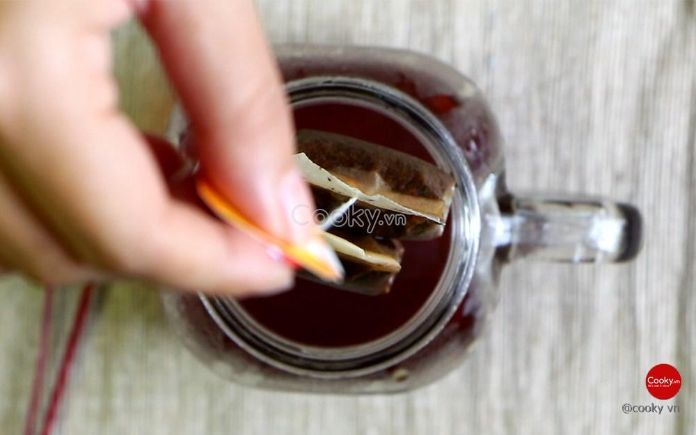 Cách làm trà đào ngọt mát giải nhiệt ngày hè - ảnh 1.