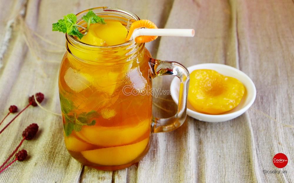 Cách làm trà đào ngọt mát giải nhiệt ngày hè - ảnh 2.