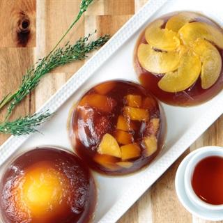 Cách làm rau câu đào mát ngọt