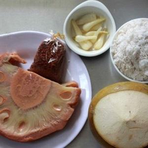 Mít non kho dừa