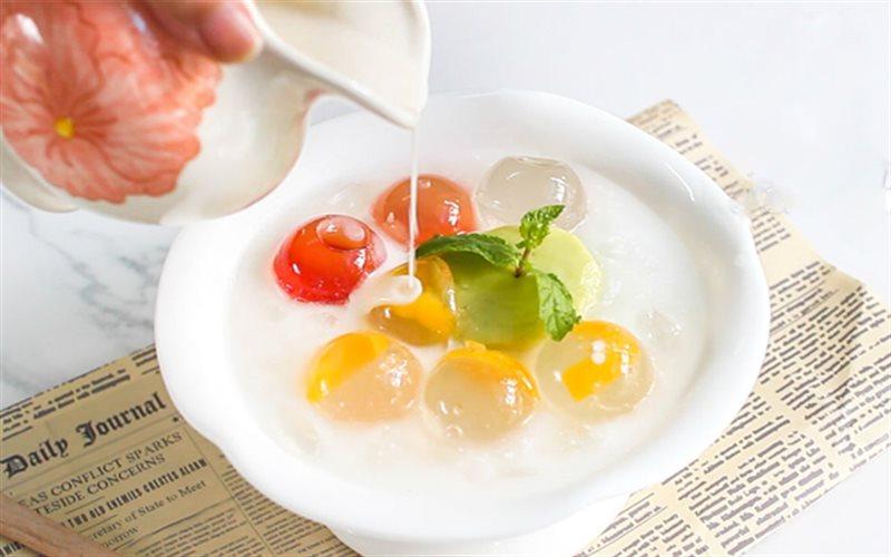 Cách nấu chè thạch trái cây pha lê