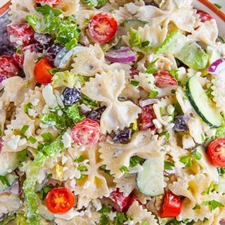 Cách làm pasta trộn salad