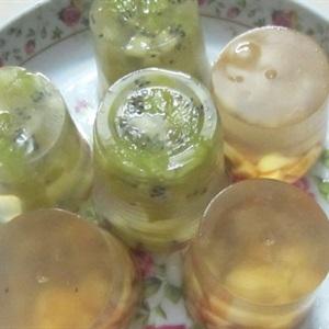 Thạch kiwi mix táo