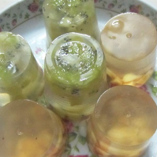 Cách làm thạch kiwi mix táo