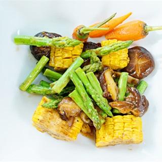 Cách làm măng tây xào nấm