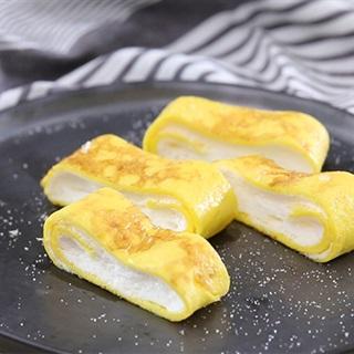 Cách làm trứng chiên nhân kem