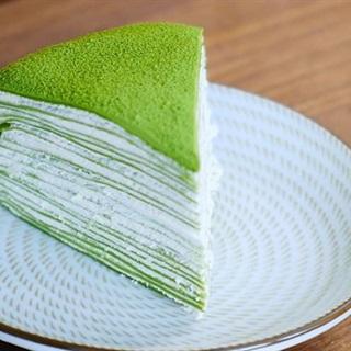 Cách làm bánh crepe trà xanh nghìn lớp