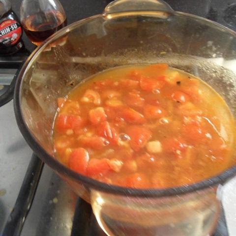 Đậu hũ trắng sốt cà chua