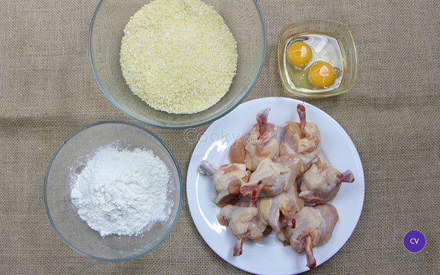 Cách làm cánh gà cơ bắp chiên xù