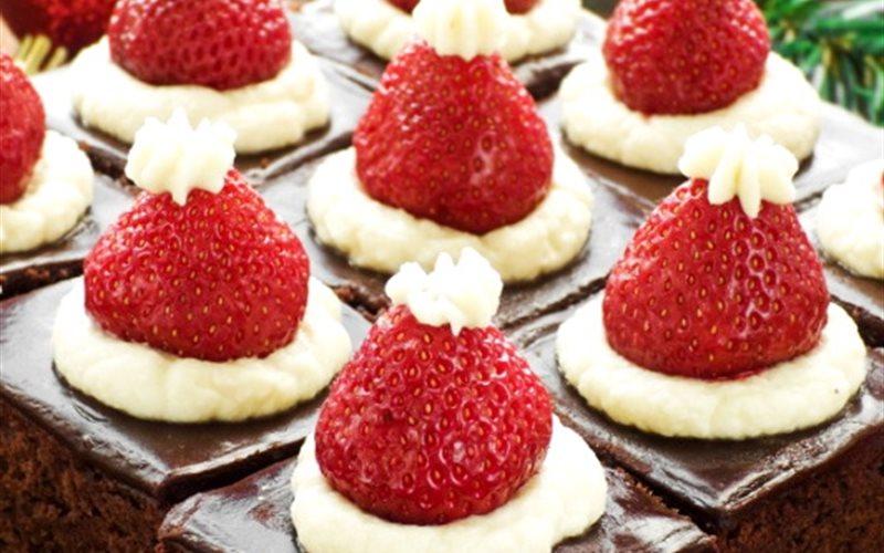 Cách làm bánh brownie ông già Noel