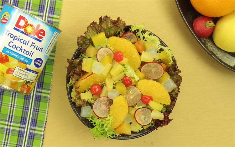 Cách làm salad trái cây nhiệt đới
