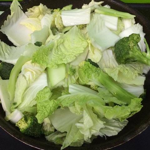 Cải thảo xào thịt bò bông cải xanh