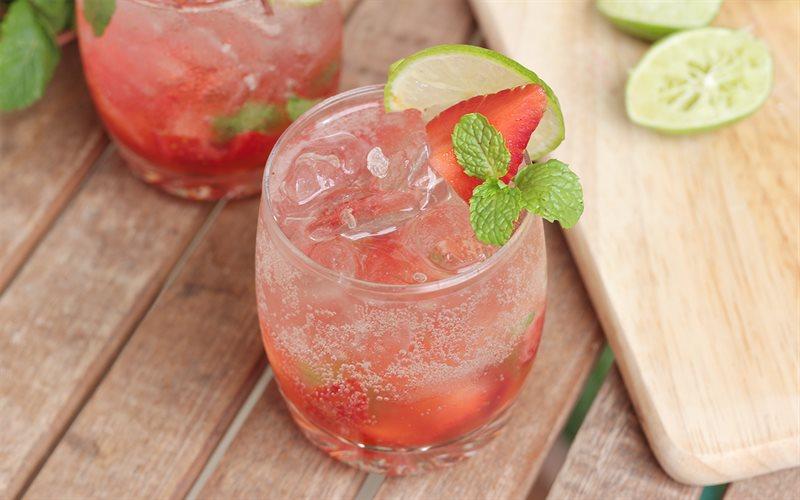Cách pha chế Strawberry Mojito dâu tây