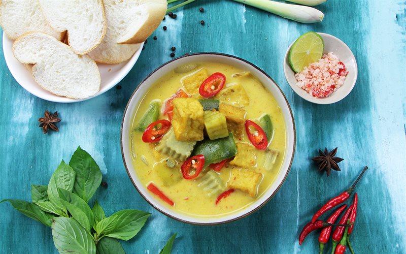 Cách Nấu Cà Ri Chay Nước Cốt Dừa, Ngon Khó Cưỡng