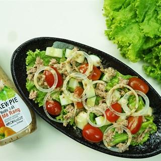 Cách làm salad cá ngừ trộn sốt Kewpie