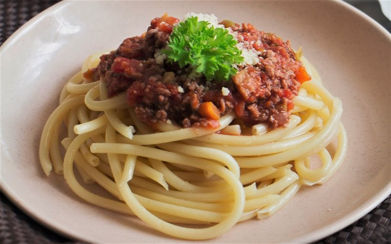 Image result for Mì Bolognese Pasta