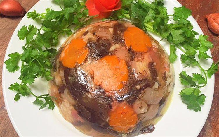 Cách nói thịt nấu đông chuẩn vị Bắc
