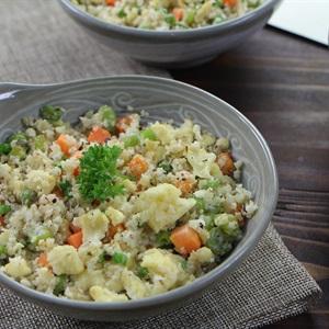 Cơm bông cải trắng - Cauliflower fried rice