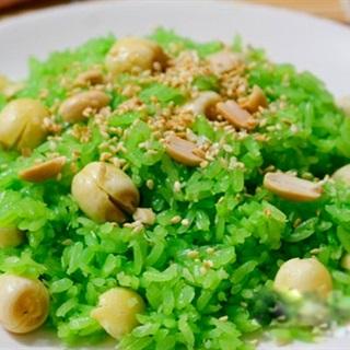 Cách làm xôi hạt sen lá dứa