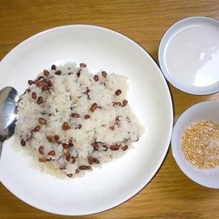 Cách làm xôi đậu đỏ muối mè
