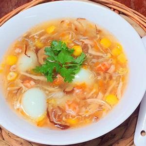 Súp hải sản trứng cút