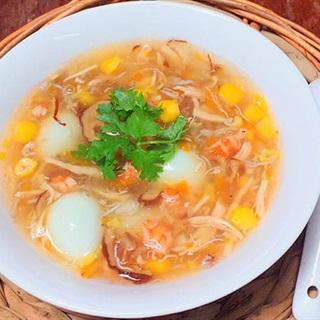 Cách làm súp hải sản trứng cút