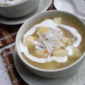Chè khoai mì nước cốt dừa