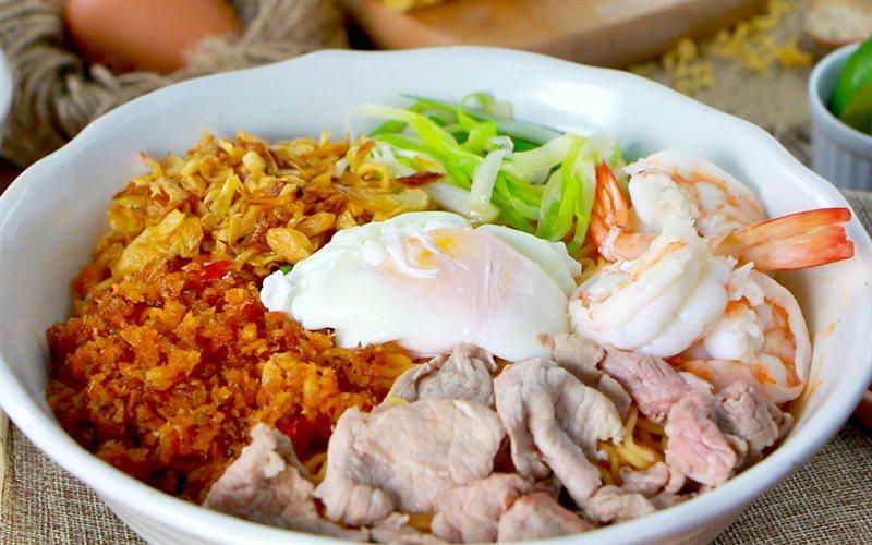 Cách Làm Mì Trộn Muối Ớt Tôm Thịt | Đậm Đà Vị Cay