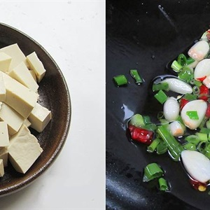 Canh mướp nấu đậu hũ