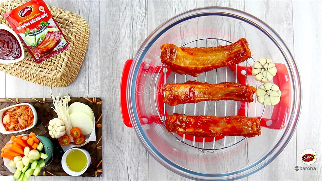 Cách ướp sườn nướng thơm mềm chuẩn vị Hàn Quốc - ảnh 1.