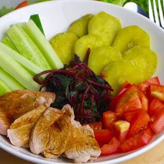 Cách làm Salad thịt heo rau củ