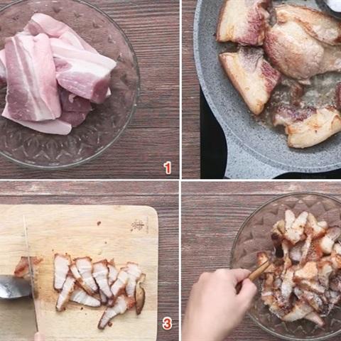 Thịt ba chỉ trộn sả tắc