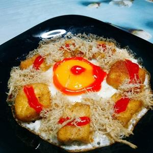 Trứng ốp la đậu hũ
