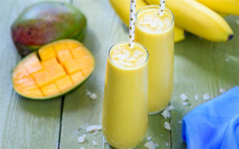 Cách làm Sinh Tố Xoài Chuối sữa chua béo thơm bổ dưỡng