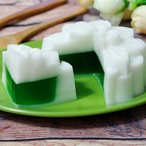 Bánh trung thu rau câu dừa nhân trà xanh