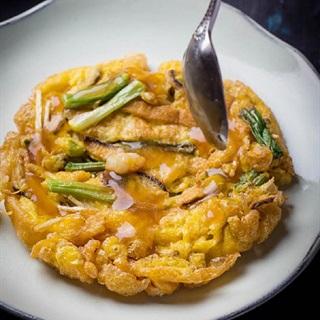 Cách làm trứng chiên tôm rau nấm