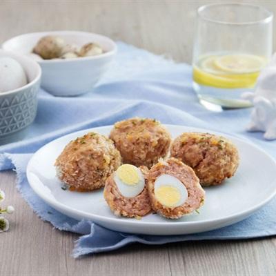 Cách làm thịt viên trứng cút nướng