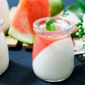 Panna cotta sữa dưa hấu