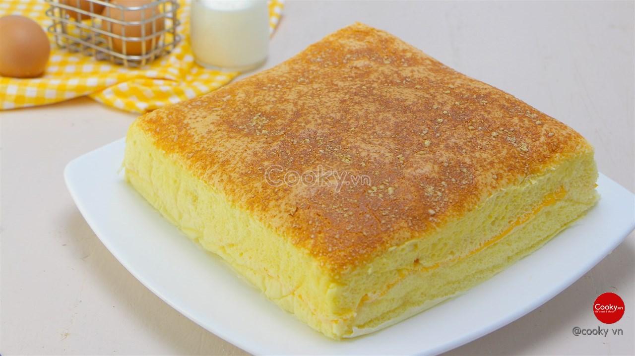 Cách làm bánh bông lan phô mai cực đơn giản tại nhà