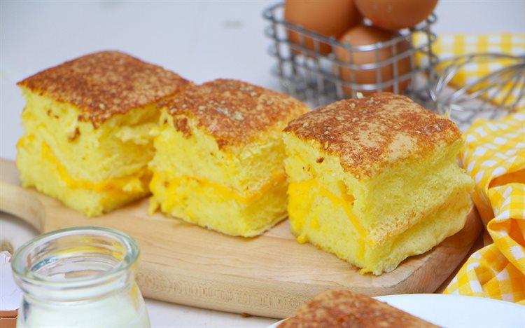 Cách làm bánh bông lan phô mai Đài Loan - Castella cheese cake -
