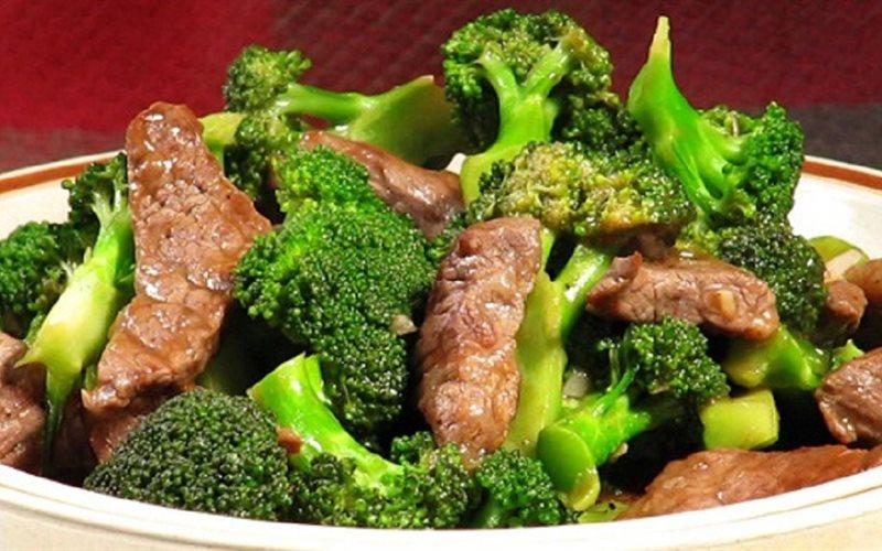 Kết quả hình ảnh cho bông cải xào thịt bò