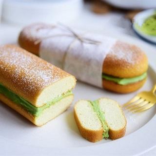 Cách làm bánh kẹp kem phô mai trà xanh