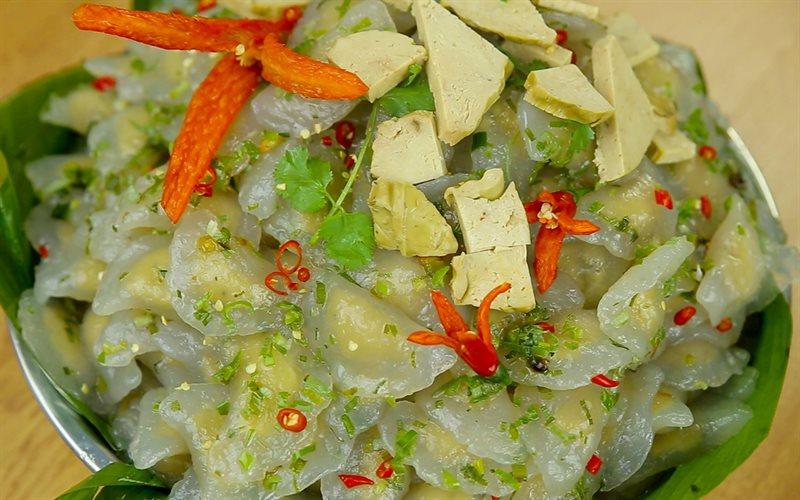 Cách làm Bánh bột lọc chay nhân đậu xanh