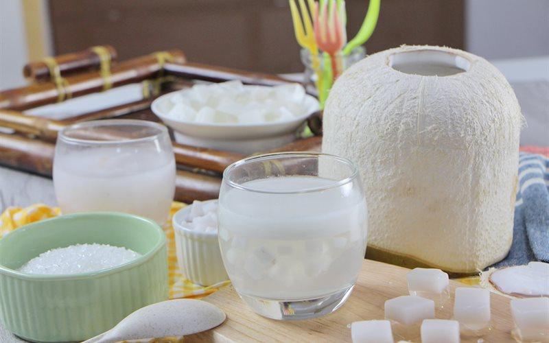 Cách Làm Rau Câu Trái Dừa Ngọt Mát, Siêu Giòn Ngon