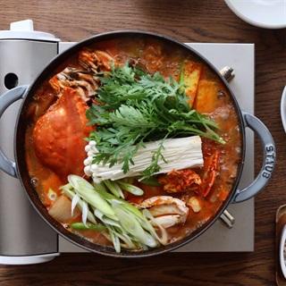 Cách làm lẩu cua Hàn Quốc