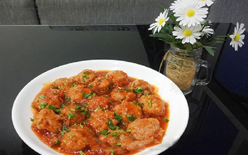 Cách làm xíu mại sốt cà chua ngon