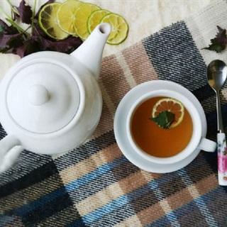 Cách làm trà mật ong tía tô chống cảm cúm