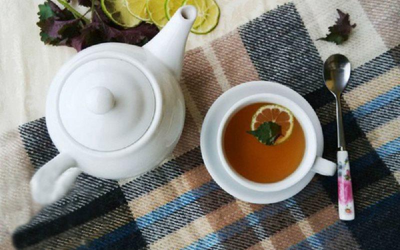 Cách làm đẹp bằng lá tía tô - trà