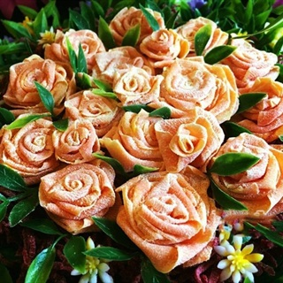 Cách làm mứt cà rốt hoa hồng