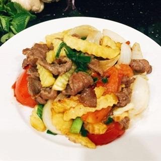 Cách làm khoai tây chiên xào thịt bò